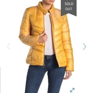 NEW Via Spiga Smocked Quilted Puffer Jacket Coat
